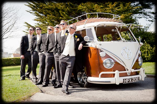 wedding photographer bristol classic vw van